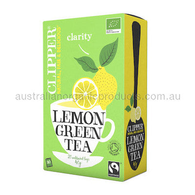 Clipper Tea Green w Lemon Fair Trade Organic 20 tbags