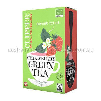 Clipper Tea Green w Strawberry Fair Trade Organic 20 tbags