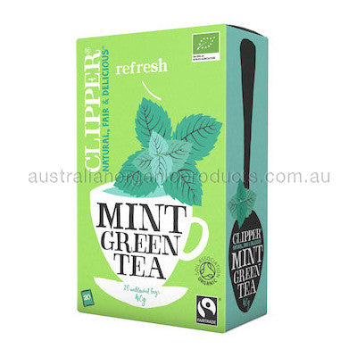 Clipper Tea Green w Mint Fair Trade Organic 20 tbags