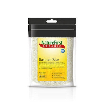 Nature First Organic White Basmati Rice 450g