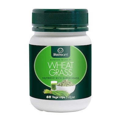 Lifestream Organic Wheat Grass 60 Capsules