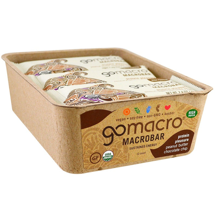 GOMACRO MacroBar Peanut Butter Chocolate Chip