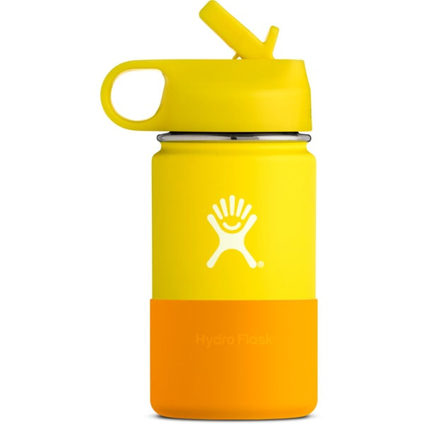 HYDRO FLASK Wide Mouth Kids Bottle - Straw Lid Double Insulated - Lemon