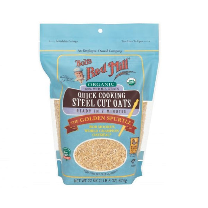Bob S Red Mill Quick Cooking Steel Cut Oats Organic 623g Australian Organic Products More