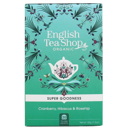 English Tea Shop Organic Cranberry, Hibiscus & Rosehip Leaves Teabags