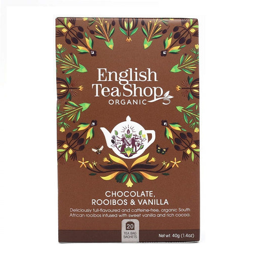 English Tea Shop Organic Chocolate Rooibos & Vanilla Teabags