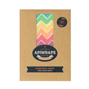 APIWRAPS Reusable Beeswax Wraps- Sandwich 1 x Large