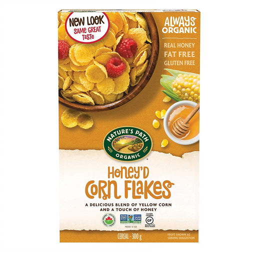 Nature`s Path Organic Honey`d Corn Flakes