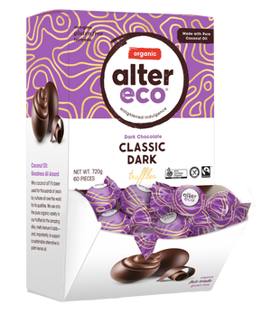 ALTER ECO Organic Chocolate Black Truffles - Dark Chocolate 108g