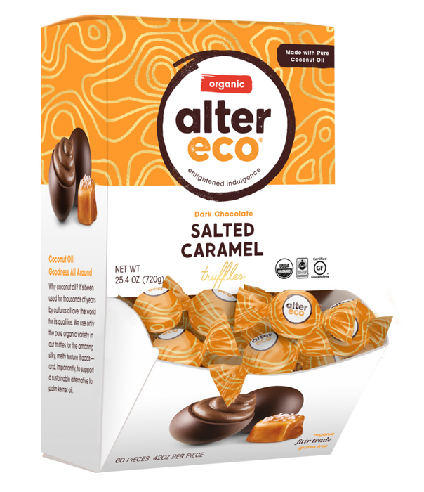 ALTER ECO Organic Dark Chocolate Salted Caramel Truffles