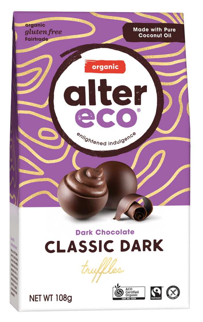 ALTER ECO Organic Dark Chocolate Truffles (Tub of 60)