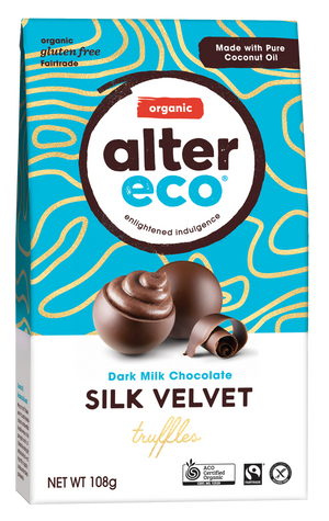 ALTER ECO Organic Velvet Truffles w Dark Milk Chocolate (Tub of 60)