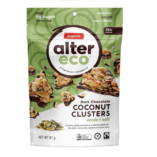ALTER ECO Dark Chocolate Coconut Clusters - Seeds + Salt