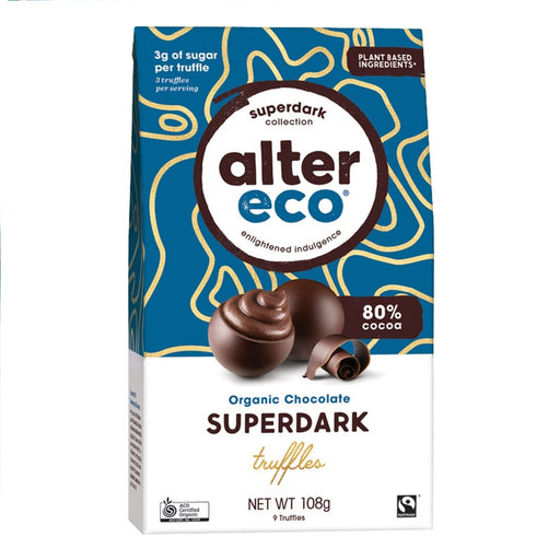 ALTER ECO Organic Chocolate Superdark Cacao Truffles