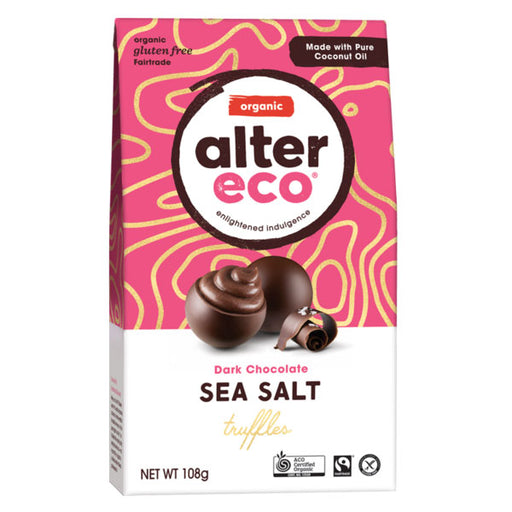 ALTER ECO Organic Chocolate Sea Salt Truffles w Dark Chocolate 108g