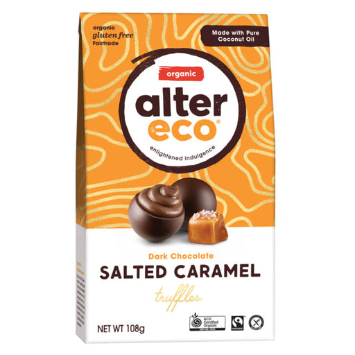 ALTER ECO Organic Dark Chocolate Salted Caramel Truffles 108g