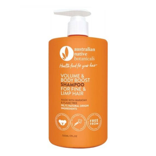 AUSTRALIAN NATIVE BOTANICALS Organic Shampoo - Volumising Fine & Limp Hair 500ml