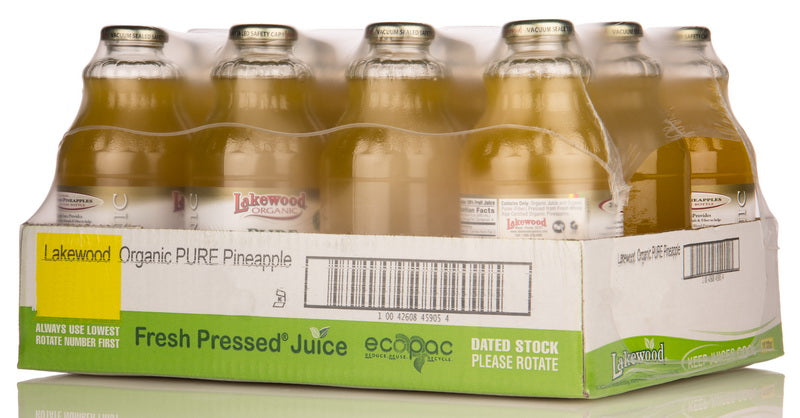 LAKEWOOD Organic Pineapple Juice 12 Bottles 946ml each