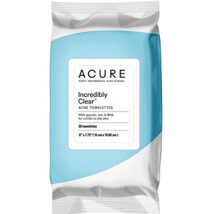 ACURE Acne Towelettes Incredibly Clear 30pack