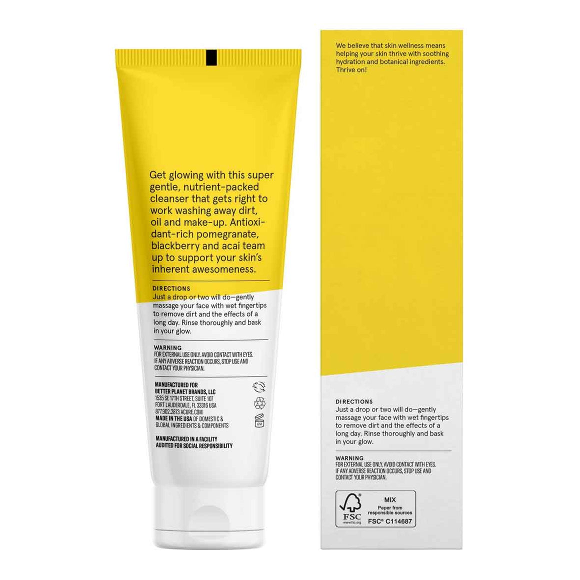 Acure Cleansing Gel Brilliantly Brightening