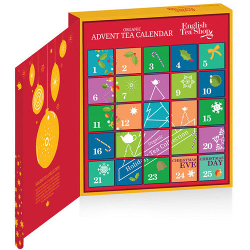 ENGLISH TEA SHOP Organic Book Style Advent Calendar Red Inside