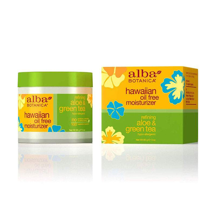 Alba Hawaiian Organic Moisturiser Aloe & Green Tea Oil-Free 85g