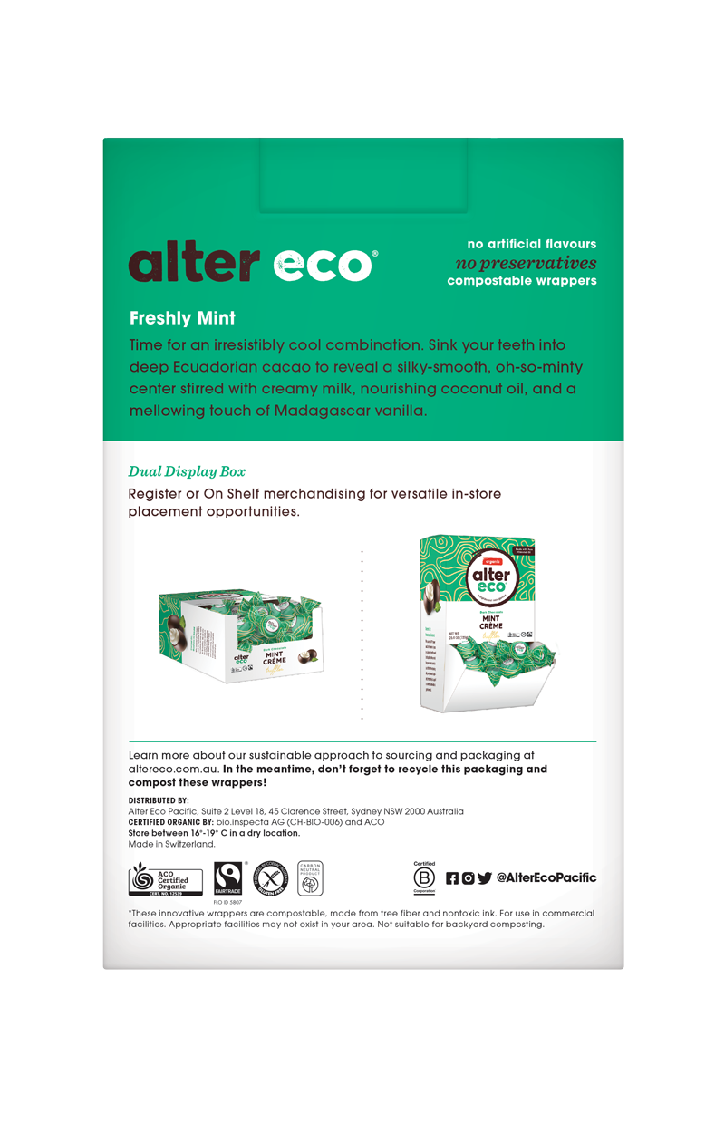ALTER ECO Chocolate (Organic) Mint Truffles Tub of 60