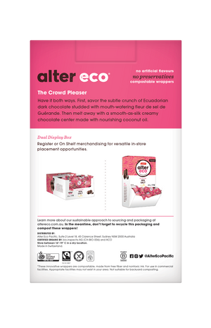 ALTER ECO Organic Sea Salt Truffles w Dark Chocolate (Tub of 60)