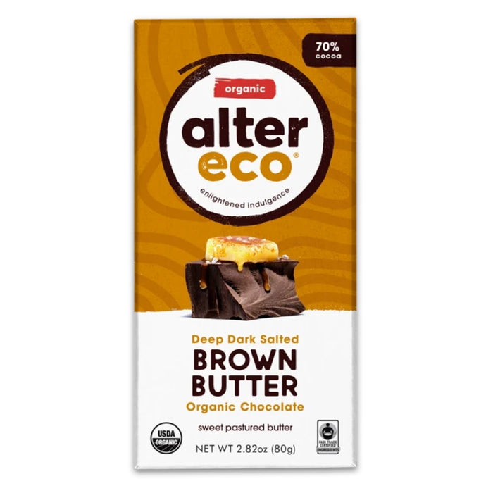 ALTER ECO Organic Chocolate Dark Brown Butter 80g