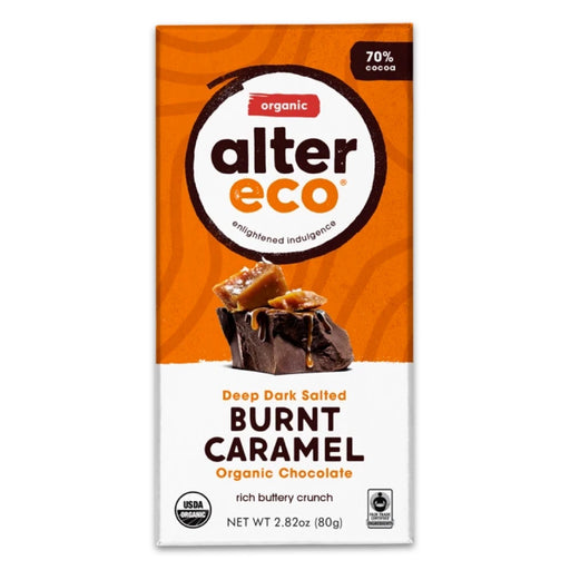 ALTER ECO Organic Dark Salted Burnt Caramel Chocolate 80g