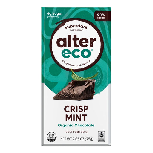 ALTER ECO Organic Dark Crisp Mint Chocolate 75g
