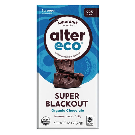 ALTER ECO Chocolate Organic Dark Super Blackout 75g