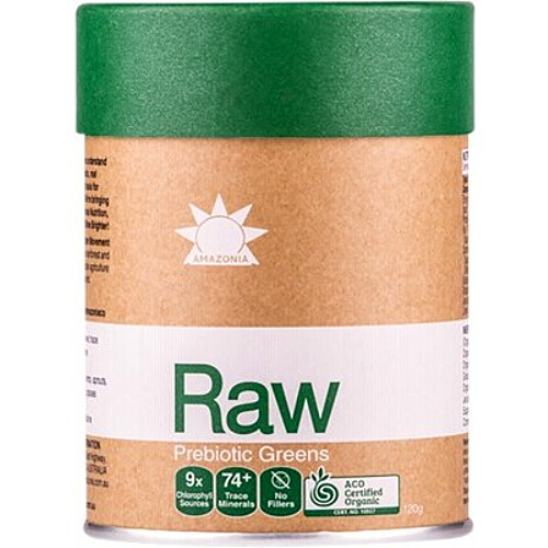 AMAZONIA RAW Prebiotic Greens Veggies, Grasses & Herbs 120g