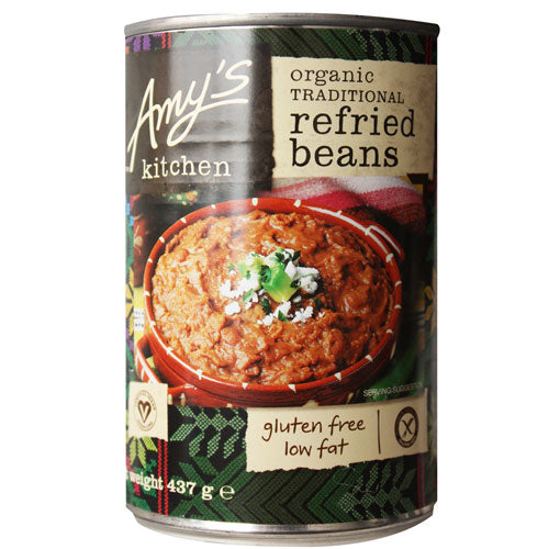 AMYS KITCHEN Organic Traditional Beans Refried 437g