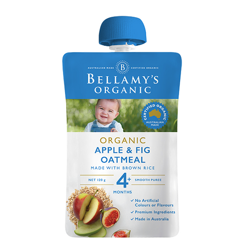 Bellamys Organic Apple Fig and Oatmeal