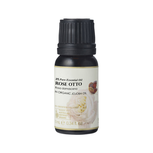 Ausganica 100% Certified Organic Essential Oil Dilution Rose Otto 3% in Jojoba