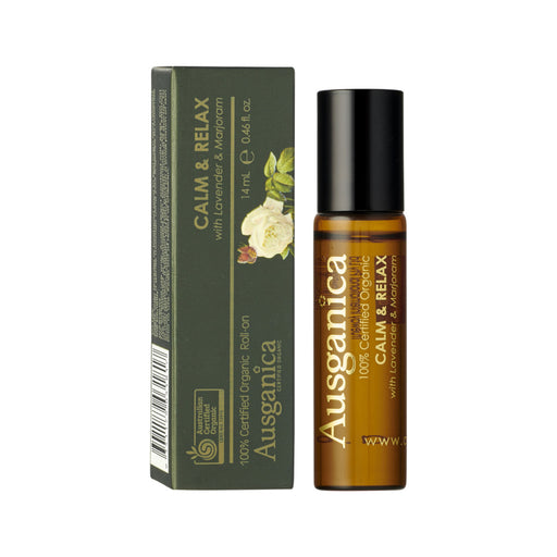 Ausganica 100% Certified Organic Roll-On Calm & Relax with Lavender & Marjoram 14ml