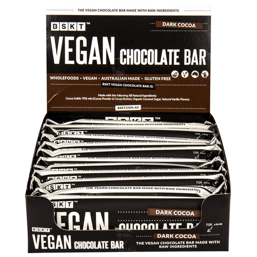 BSKT Vegan Chocolate Bar Dark Cocoa