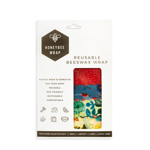 HONEYBEE WRAP S,M,L & XL Reusable Beeswax Wrap Kitchen Collection Pack