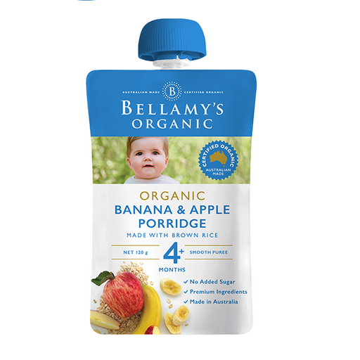 Bellamys Organic Banana and Apple Porridge