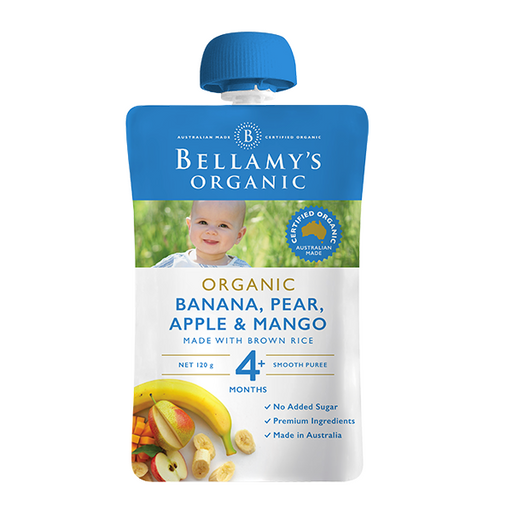 Bellamys Organic Banana, Pear, Apple and Mango