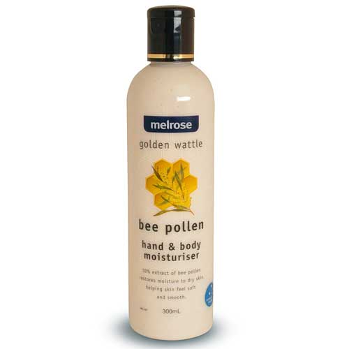 MELROSE Golden Wattle Organic Bee Pollen Hand & Body Moisturiser 300ml