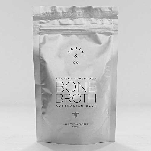 BROTH & CO Beef Bone Broth Powder Australian Grass Fed 100g