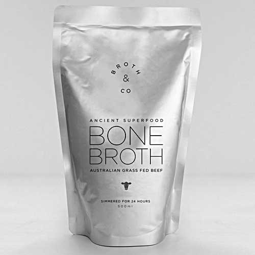 BROTH & CO Beef Bone Broth Liquid Australian Grass Fed 500ml