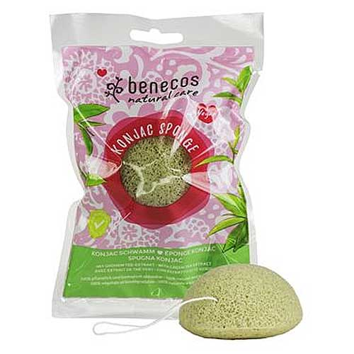 BENECOS Konjac Natural Sponge Green Tea Combination to Dry Skin