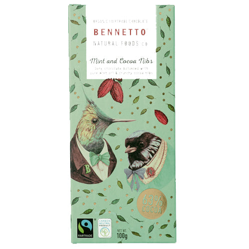 Bennetto Mint Cacao Dark Chocolate 100g