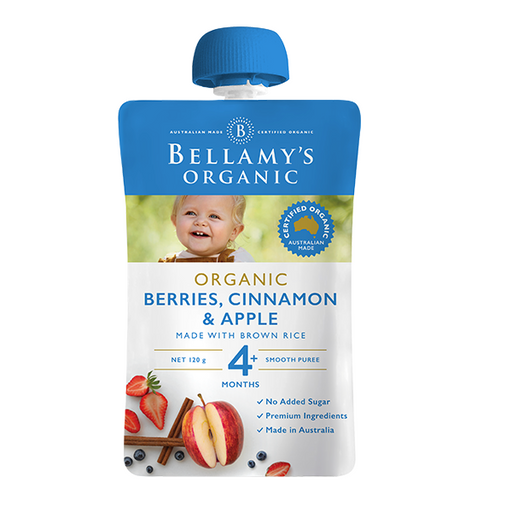 Bellamys Organic Berries, Cinammon and Apple