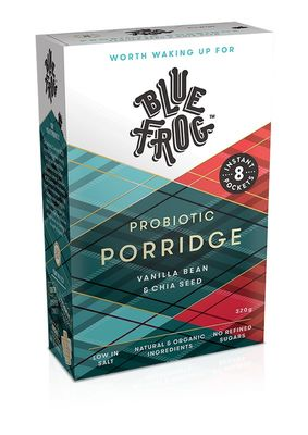 Blue Frog Probiotic Porridge - Vanilla Bean and Chia Seed 320g (8x40g)