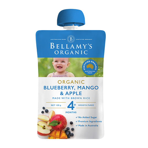 Bellamys Organic Blueberry Mango and Apple