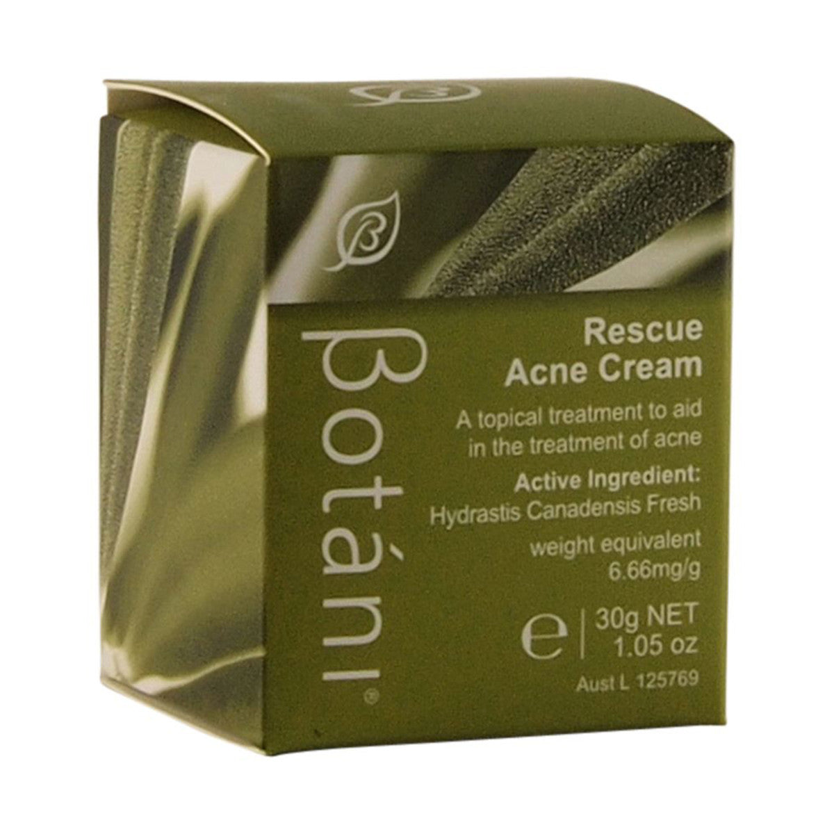 Botani rescue acne cream 30g australian organic products - Bathroom items that start with g ...